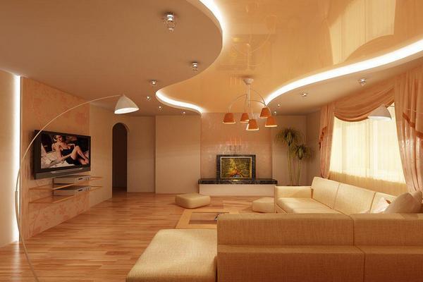 Лучше глянцевые натяжные потолки
