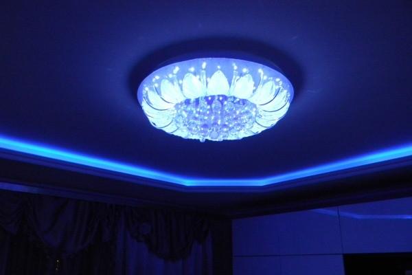 Потолки из гипсокартона с подсветкой своими руками