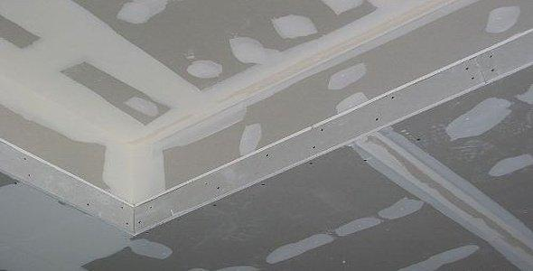 Шпаклевка потолка из гипсокартонна