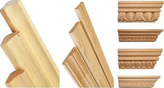 Деревянные плинтуса для вашего потолка.
